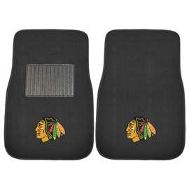 NHL - Chicago Blackhawks 2-pc Embroidered Car Mat Set Front Car Mats