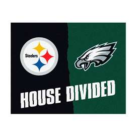 NFL House Divided: Steelers / EaglesFloor Rug Mats