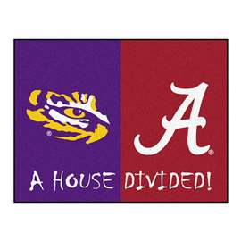 House Divided: LSU / Alabama  House Divided Mat Rug, Carpet, Mats