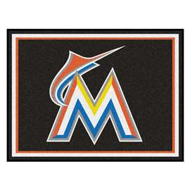 MLB - Miami Marlins 8x10 Rug Plush Rugs