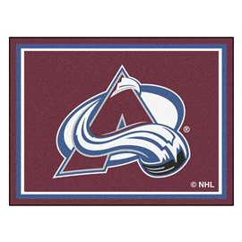 NHL - Colorado Avalanche Rug Carpet Mats 87 X 117 Inches