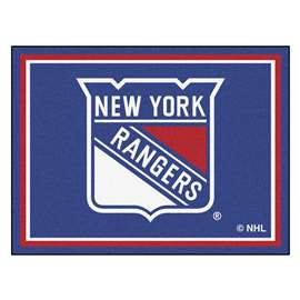 NHL - New York Rangers Rug Carpet Mats 87 X 117 Inches