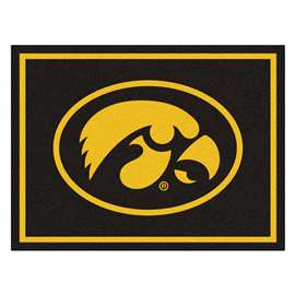 University of Iowa 8x10 Rug Plush Rugs