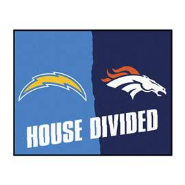 NFL House Divided - Chargers / Broncos House Divided Mat Rectangular Mats