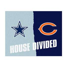 NFL House Divided - Cowboys / Bears House Divided Mat Rectangular Mats