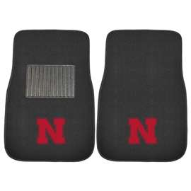 University of Nebraska  2-pc Embroidered Car Mat Set