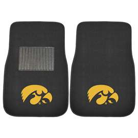 University of Iowa 2-pc Embroidered Car Mat Set Front Car Mats