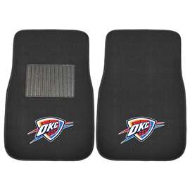 NBA - Oklahoma City Thunder 2-pc Embroidered Car Mat Set Front Car Mats