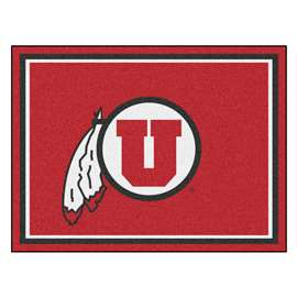 University of Utah 8x10 Rug Plush Rugs