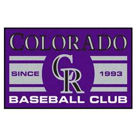 "Colorado Rockies Baseball Club Starter Rug 19""x30""  Starter Mat"