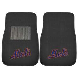 MLB - New York Mets 2-pc Embroidered Car Mat Set  2-pc Embroidered Car Mat Set