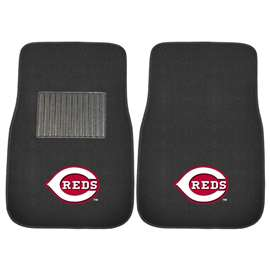 MLB - Cincinnati Reds 2-pc Embroidered Car Mat Set  2-pc Embroidered Car Mat Set