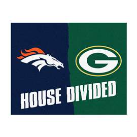 NFL House Divided - Broncos / Packers House Divided Mat Rectangular Mats