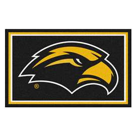 University of Southern Mississippi 4x6 Rug Plush Rugs
