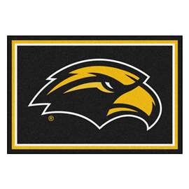 University of Southern Mississippi 5x8 Rug Plush Rugs