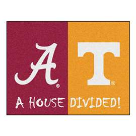 House Divided: Alabama  /  Tenneessee  House Divided Mat Rug, Carpet, Mats