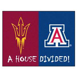 House Divided: Arizona State / Arizona  House Divided Mat Rug, Carpet, Mats