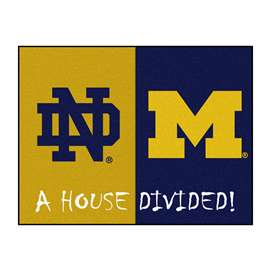 House Divided: Notre Dame / Michigan  House Divided Mat Rug, Carpet, Mats