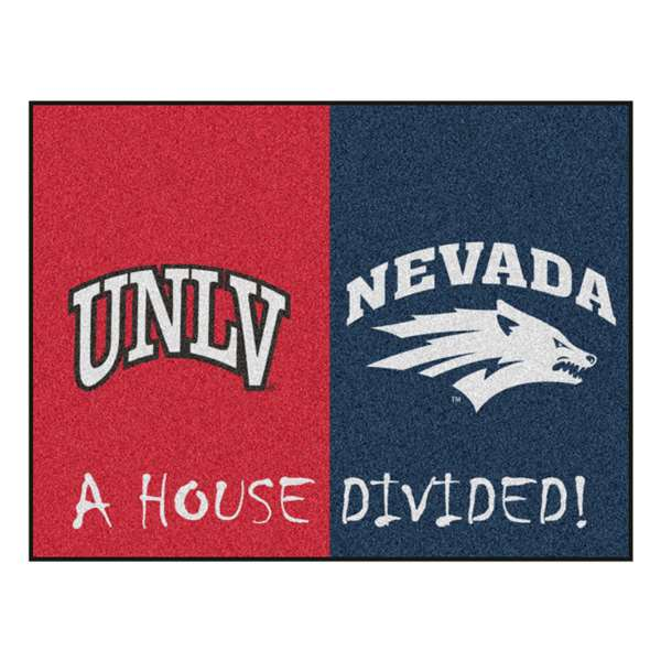 House Divided: UNLV / Nevada  House Divided Mat Rug, Carpet, Mats