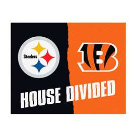 NFL House Divided - Steelers / BengalsFloor Rug Mats