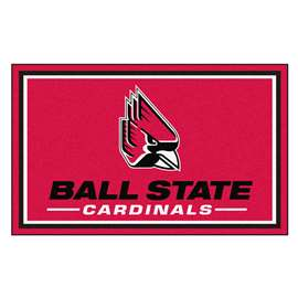 Ball State University 4x6 Rug Plush Rugs