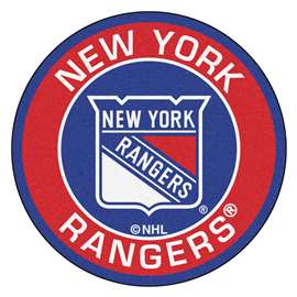"NHL - New York Rangers Mat, Rug , Carpet 27"" diameter"