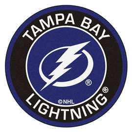 "NHL - Tampa Bay Lightning Mat, Rug , Carpet 27"" diameter"