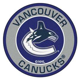 "NHL - Vancouver Canucks Mat, Rug , Carpet 27"" diameter"