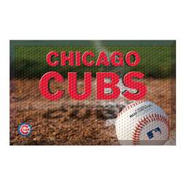 "MLB - Chicago Cubs Scraper Mat 19""x30"" - Ball  Scraper Mat"