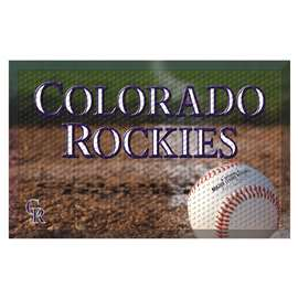 "MLB - Colorado Rockies Scraper Mat 19""x30"" - Ball  Scraper Mat"
