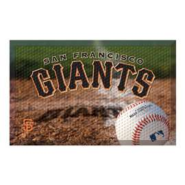 "MLB - San Francisco Giants Scraper Mat 19""x30"" - Ball  Scraper Mat"