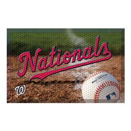 "MLB - Washington Nationals Scraper Mat 19""x30"" - Ball  Scraper Mat"