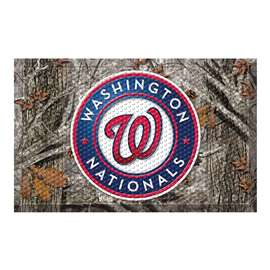 "MLB - Washington Nationals Scraper Mat 19""x30"" - Camo  Scraper Mat"