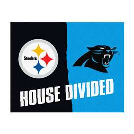 NFL House Divided - Steelers / Panthers House Divided Mat Rectangular Mats