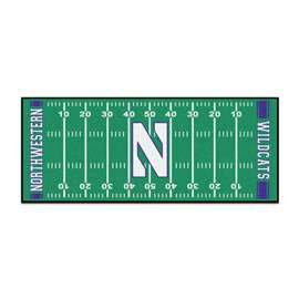 Northwestern University  Football Field Runner Mat Rug Carpet