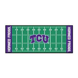 Texas Christian University   Football Field Runner Mat Rug Carpet