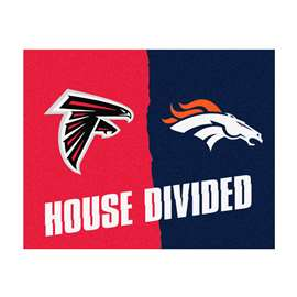 NFL House Divided - Falcons / Broncos House Divided Mat Rectangular Mats
