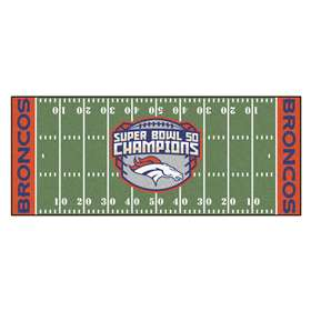 NFL - Denver Broncos Super Bowl 50 Champions  Football Field Runner