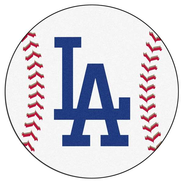 "MLB - Los Angeles Dodgers 'LA' Baseball Mat 27"" diameter   Baseball Mat"
