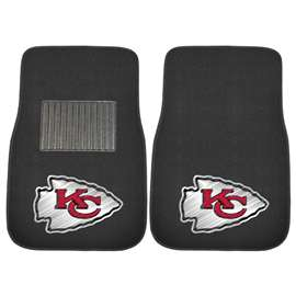 NFL - Kansas City Chiefs 2-pc Embroidered Car Mat Set Front Car Mats