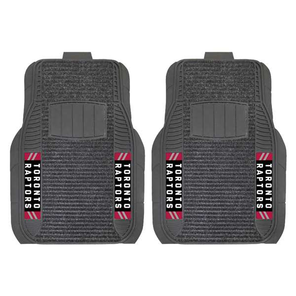 NBA - Toronto Raptors 2-pc Deluxe Car Mat Set Front Car Mats