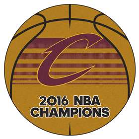 "Cleveland Cavaliers 2016 NBA Finals Champions Basketball Rug 27"" Diameter"