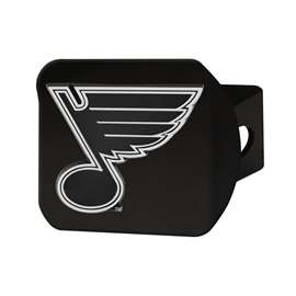 NHL - St. Louis Blues Chrome Hitch - Black Hitch Covers