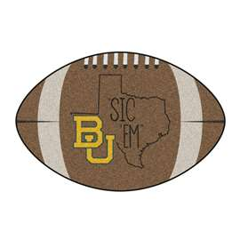 Baylor University Football Mat Ball Mats