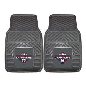 Washington Nationals  2019 World Series Champions 2-pc Vinyl Car Mat Set Front Car Mats