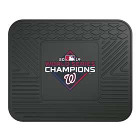 Washington Nationals  2019 World Series Champions Utility Mat Rear Car Mats