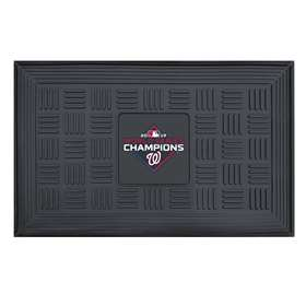 Washington Nationals  2019 World Series Champions Medallion Door Mat Door Mats