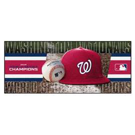 Washington Nationals  2019 World Series Champions Baseball Runner Runner Mats