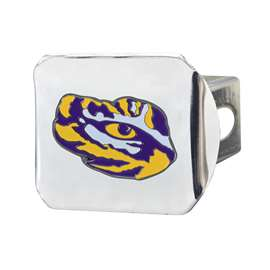 Louisiana State University Color Hitch - Chrome Hitch Covers