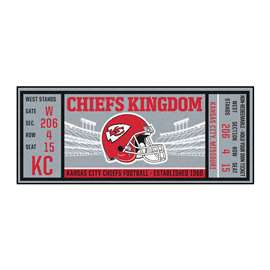 NFL - Kansas City Chiefs Ticket Runner Runner Mats